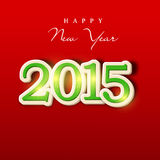Happy New Year 2015 celebration with stylish text. Shiny text of 2015 for Happy New Year celebration on red background Royalty Free Stock Images