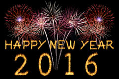 Happy New Year 2016. Royalty Free Stock Photos