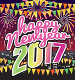 Happy New Year 2017 Celebration. Happy New Year 2017 Celebration Vector Illustration Stock Photo