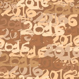 Happy New Year 2016 celebration wallpaper seamless pattern. Hand drawn numbers in calligraphy style Stock Photo