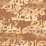 Happy New Year 2016 celebration wallpaper seamless pattern. Stock Photo