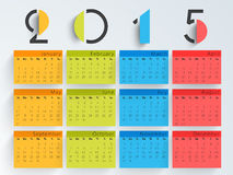 Happy New Year 2015 celebration with yearly calendar. Stock Photography