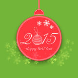 Happy New Year celebrations concept with stylish text design. Royalty Free Stock Photos