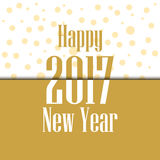 2017 Happy New Year. Celebratory background with sparkles. And shadow. Vector illustration Royalty Free Stock Photo