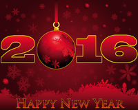 2016 Happy New Year. Celebratory background with the words Happy New Year Royalty Free Stock Image