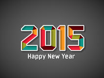 Happy New Year 2015 celeration greeting card. Stock Photos