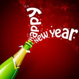 Happy New Year with Champagne Royalty Free Stock Images