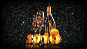 Happy New Year 2018 Champagne Stock Photography