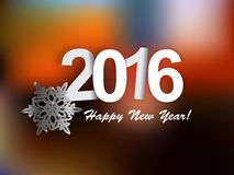 Happy new year 2016. 2015-2016 change represents the new year 2016. New year 2016 Text Design vector illustration