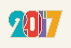 HAPPY NEW YEAR . Cheerful and beautiful inscription of color overlapping letters. 2017, HAPPY NEW YEAR . Cheerful and beautiful inscription of color overlapping vector illustration