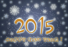 Happy New Year 2015. Cheerful greeting card New Year 2015 vector illustration