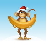 Happy New Year of the Chinese Calendar Monkey Christmas Card Stock Photos
