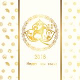 Happy Chinese dog year greeting card. Happy new year, happy Chinese dog year 2018 Royalty Free Stock Image