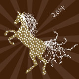 Happy new year 2014. Chinese new year 2014 - Year of the Horse - vector illustration Stock Photo