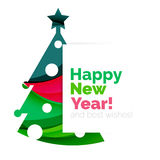 Happy New Year and Chrismas holiday greeting card elements Royalty Free Stock Photo