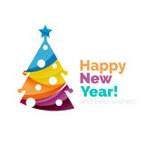 Happy New Year and Chrismas holiday greeting card elements Stock Image