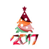 Happy New Year and Chrismas holiday greeting card elements Royalty Free Stock Image