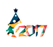 Happy New Year and Chrismas holiday greeting card elements Stock Images