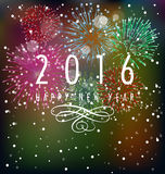 Happy New Year 2016. And christmas royalty free illustration