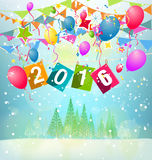 Happy New Year 2016. And christmas vector illustration