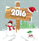 Happy New Year 2016. And christmas stock illustration