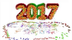 Happy New Year 2007 stock video footage