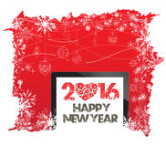 Happy New Year 2016 and christmas background.  Stock Image
