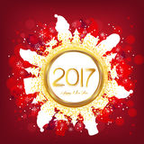 Happy new year 2017 and christmas background.  Royalty Free Stock Photos