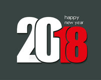 2018 Happy New Year or Christmas Background Stock Image