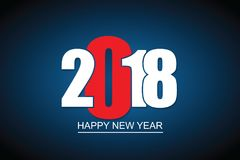 2018 Happy New Year or Christmas Background creative greeting card design. Royalty Free Stock Image