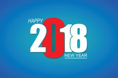 2018 Happy New Year or Christmas Background creative greeting card design. Royalty Free Stock Photography