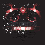 Happy new year with Christmas background and greeting card vector Stock Photos