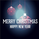 Happy new year with Christmas background and greeting card vector Stock Images