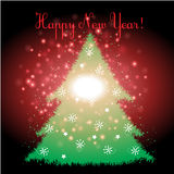 Happy new year with Christmas background and greeting card vector Royalty Free Stock Image