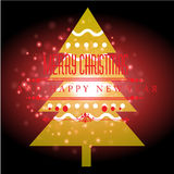 Happy new year with Christmas background and greeting card vector Stock Photo