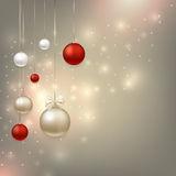 Happy new year and Christmas background. Happy new year and Christmas realistic background with magic effects Stock Image