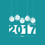 Happy new year with christmas ball in blue illustration. Happy new year with christmas ball in blue color illustration royalty free illustration