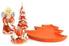Happy New Year. Christmas candles royalty free stock photo