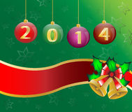 Happy new year 2014 Christmas Card Background Illu. Stration Royalty Free Stock Images