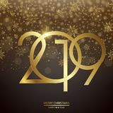 Happy New Year and Christmas card. Vector. Happy New Year and Christmas card with golden text and clock. Vector vector illustration