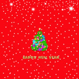 Happy New Year Christmas card Royalty Free Stock Photography