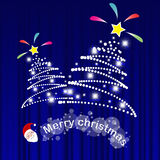 Happy new year 2015 and Christmas card vector background Stock Image