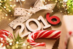 Happy 2016 New Year. Christmas decoration Happy 2016 New Year close up stock images