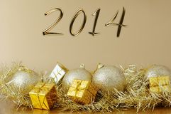 Happy new year 2014  - Christmas decoration Stock Image