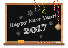 Happy New Year 2017. Christmas design Royalty Free Stock Photo