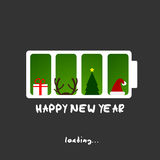 Happy new year, christmas funny card design Stock Photos