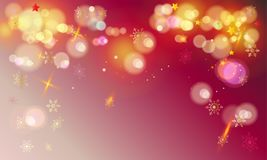 Bokeh New Years gold greeting wallpaper Stock Images