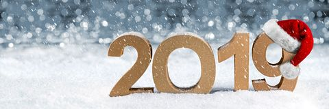 2019 happy new year christmas greeting card number symbol letter stock image