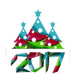 Happy New Year and Christmas holiday greeting card elements. Geometric banner Royalty Free Stock Photography