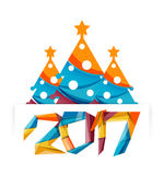 Happy New Year and Christmas holiday greeting card elements. Geometric banner Royalty Free Stock Image